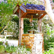 Wishing Well Cambria Pines Lodge Print by Arline Wagner
