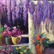 Wisteria Blooms Art Print