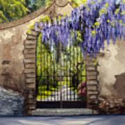 Wisteria Gate Art Print