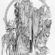 Wizard Iv - Wandering Wiseman - Pax Consensio Art Print