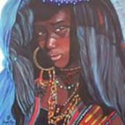 Virtuous Wodaabe Girl          From The Attitude Girls  Art Print