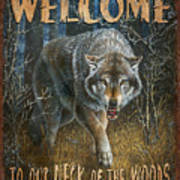 Wold Neck Of The Woods Art Print by JQ Licensing