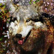 Wolf Art Version 8 Art Print