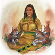Wolf Clan Mother Art Print