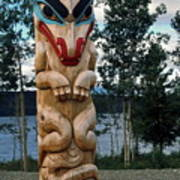 Wolf Clan Totem Pole Art Print