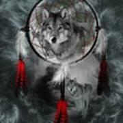 Wolf Dreamcatcher Art Print