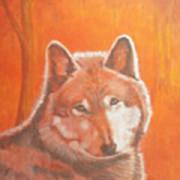 Wolf Home Burning Art Print