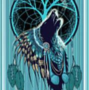 Wolf Indian Shaman Art Print