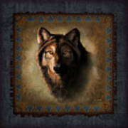 Wolf Lodge Art Print by JQ Licensing