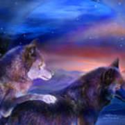 Wolf Mates Art Print