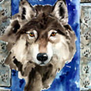 Wolf Print by Nadi Spencer