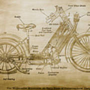 Wolfmueller Motor Cycle 1894 Art Print