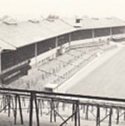 Wolverhampton - Molineux - Waterloo Road Stand 1 - Bw - Leitch - September 1968 Art Print
