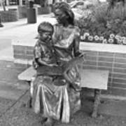 Woman And Child Sculpture Grand Junction Co Art Print