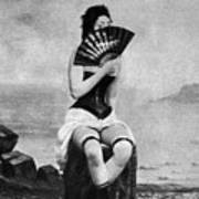 Woman And Fan, C1887 Art Print