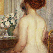Woman At A Dressing Table Art Print