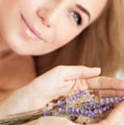 Woman At Beauty Salon Art Print