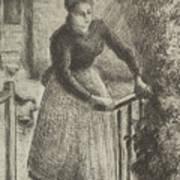 Woman At The Gate Art Print