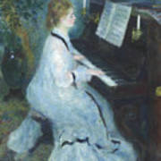 Woman At The Piano Art Print