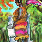 Woman At The Well Art Print