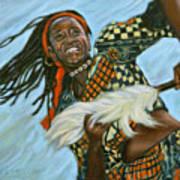 Woman Dancing Art Print