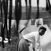 Woman Doing Laundry, C1902 Art Print