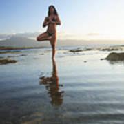 Woman Doing Yoga Art Print by Brandon Tabiolo - Printscapes