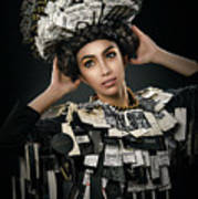 Woman Dressed In Price Tag Art Print