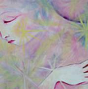 Woman Face Detail Art Print