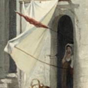 Woman In A Doorway. Rome Art Print