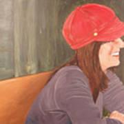 Woman In A Red Cap Art Print