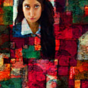 Woman In Abstract 454 Art Print