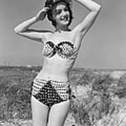Woman In Bikini, C.1950s Art Print