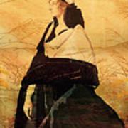 Woman In Black Art Print