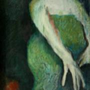 Woman In Green Art Print