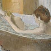 Woman In Her Bath Art Print