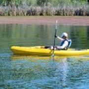 Woman In Kayak Art Print