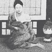 Woman In Kimono Art Print by Don Perino