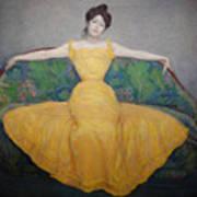 Woman In A Yellow Dress Art Print