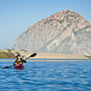 Woman Kayaking In Morro Bay Art Print by Bill Brennan - Printscapes