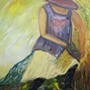 Woman Of Wheat Art Print