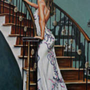 Woman On A Staircase 3 Art Print