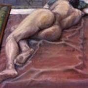 Woman On Blanket Art Print