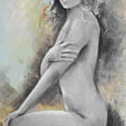 Woman Painted Art Print