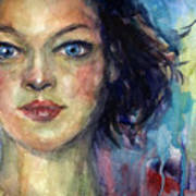 Woman  Portrait 2 Art Print