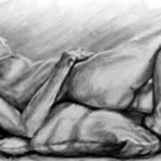 Woman Resting Art Print