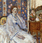 Woman Seated In An Armchair Art Print