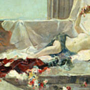 Woman Undressed Print by Joaquin Sorolla y Bastida