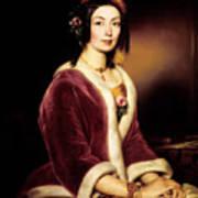 Woman Wearing A Velvet Pelisse  Art Print