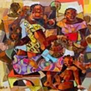Women And Children Art Print